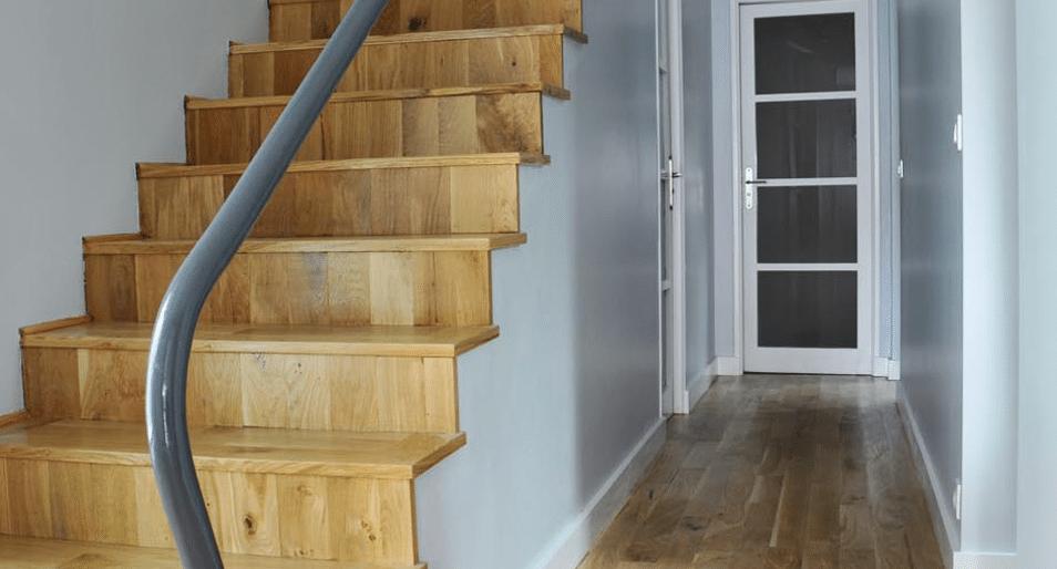 Escalier bois sol - Jad'O Parquet
