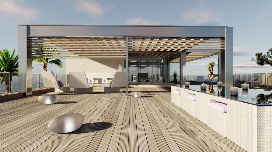 Salon d'été extérieur terrasse bois - Jad'O Parquet