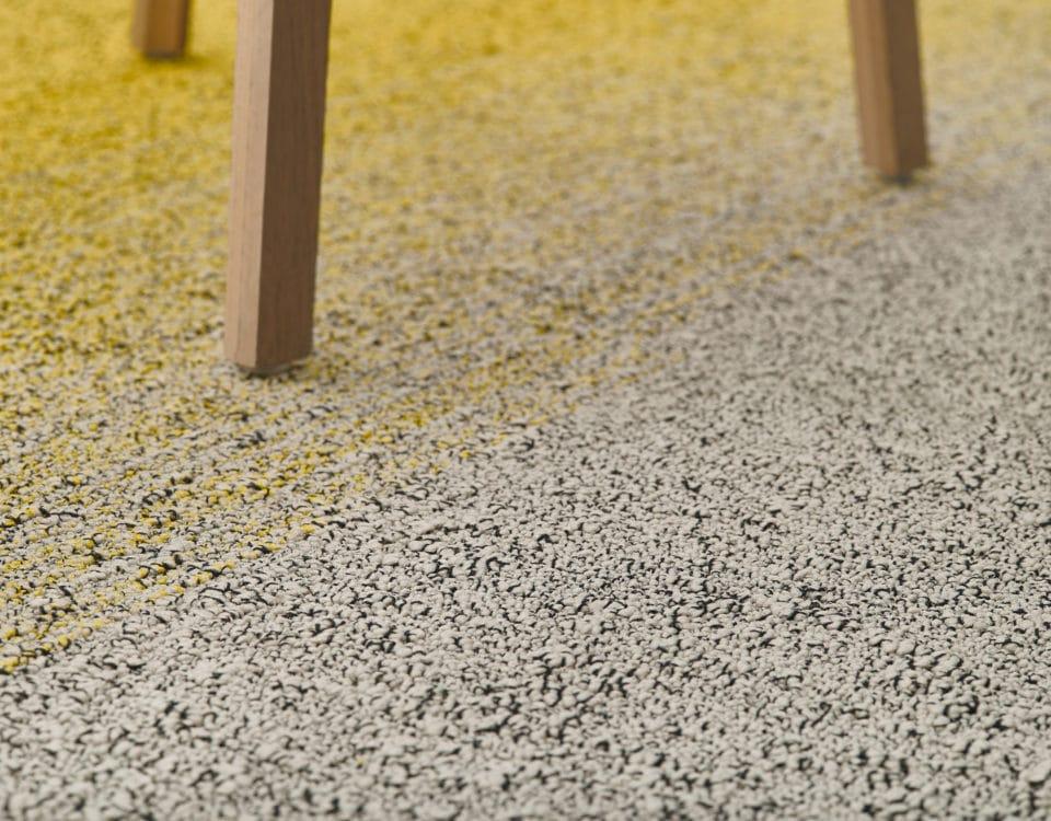Moquette design modern jaune et gris - Jad'O Parquet